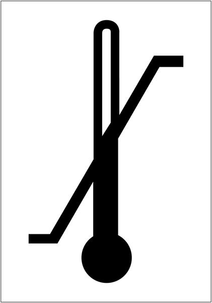 Etiquettes d'expédition ISO 780 - Température maximum