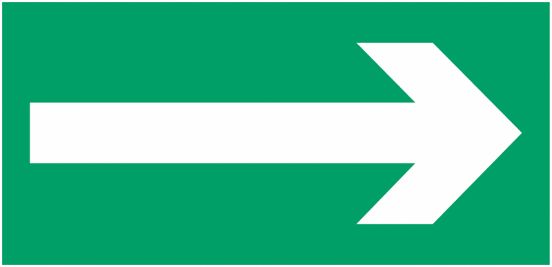 Etiquette BAES Flèche de direction gauche ou droite