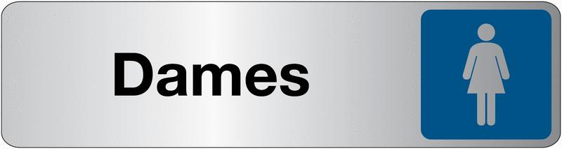 Plaque en plexiglas avec texte et symbole pour toilettes dames