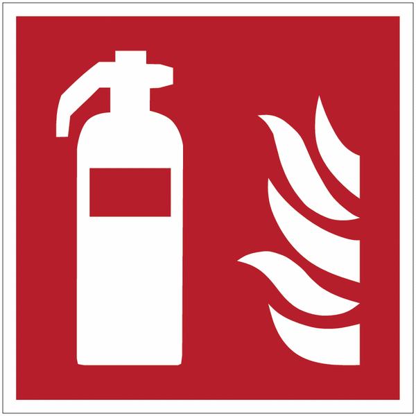 Pictogrammes NF EN ISO en aluminium Extincteur d'incendie