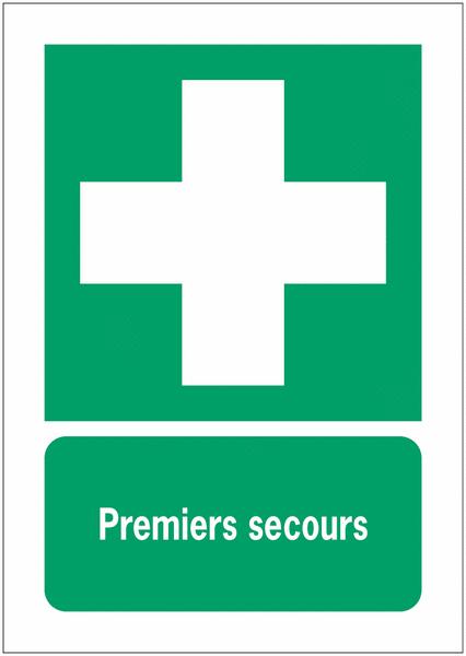 Porte-documents adhésifs à fermeture magnétique Premiers secours