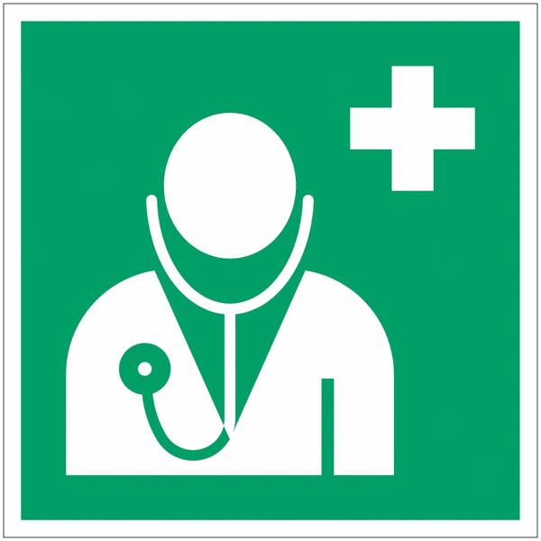 Pictogramme ISO 7010 en rouleau Médecin - E009
