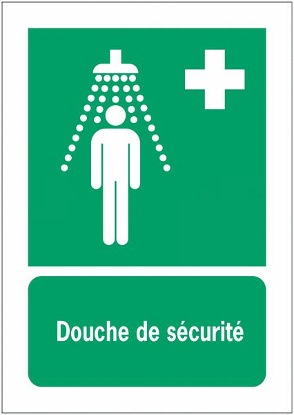 Panneaux NF EN ISO 7010 A3/A4/A5 Douche de sécurité - E012