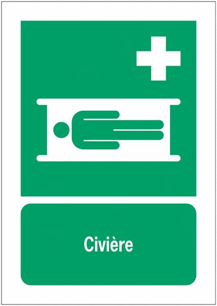 Panneaux NF EN ISO 7010 A3/A4/A5 Civière - E013