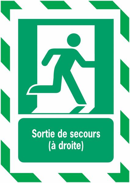 Porte-documents adhésifs à fermeture magnétique Sortie de secours (à droite) - Seton