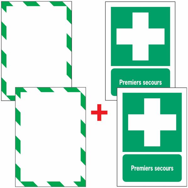 Porte-documents adhésifs à fermeture magnétique Premiers secours - Seton