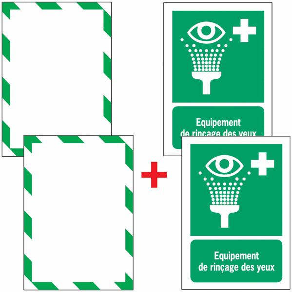 Porte-documents adhésifs à fermeture magnétique Equipement de rinçage des yeux