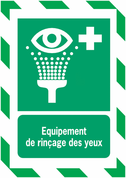 Porte-documents adhésifs à fermeture magnétique Equipement de rinçage des yeux - Seton