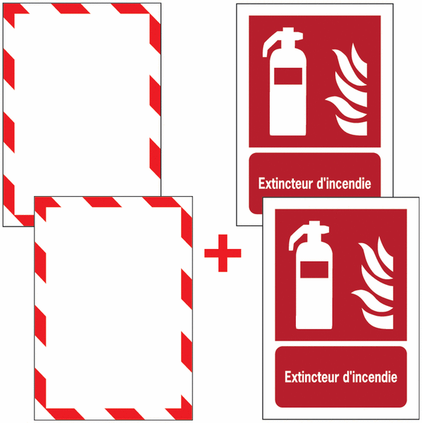 Porte-documents adhésifs à fermeture magnétique Extincteur d'incendie
