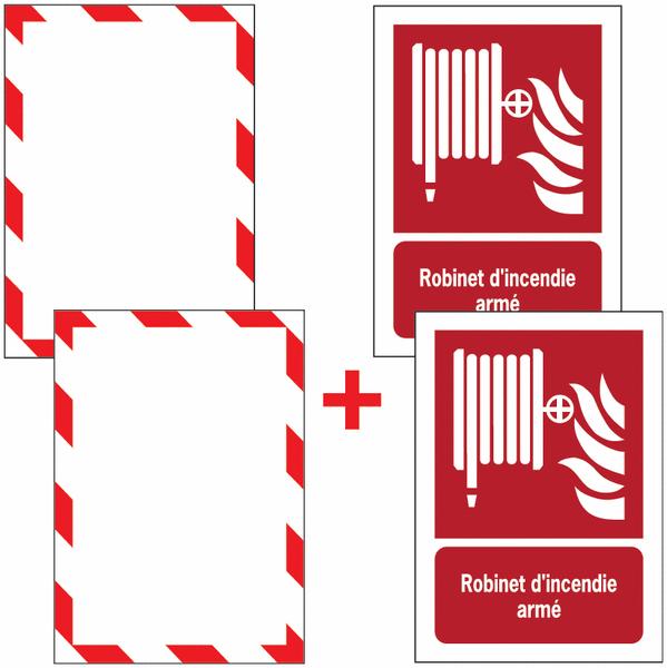 Porte-documents adhésifs à fermeture magnétique Robinet d'incendie armé