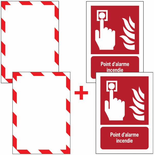 Porte-documents adhésifs à fermeture magnétique Point d'alarme incendie