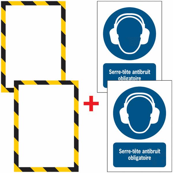 Porte-documents adhésifs à fermeture magnétique Serre-tête antibruit obligatoire
