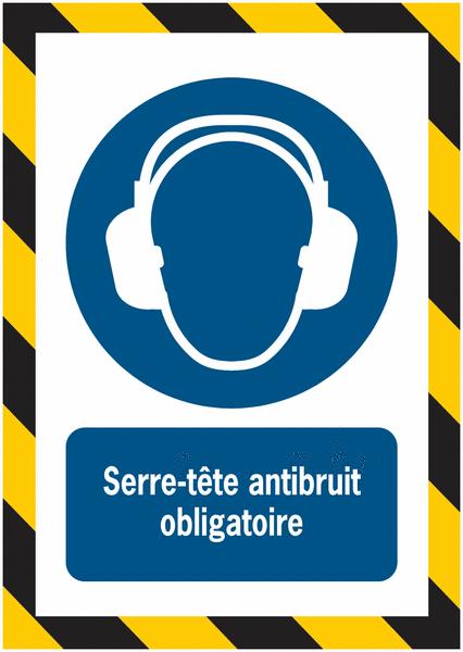 Porte-documents adhésifs à fermeture magnétique Serre-tête antibruit obligatoire - Seton