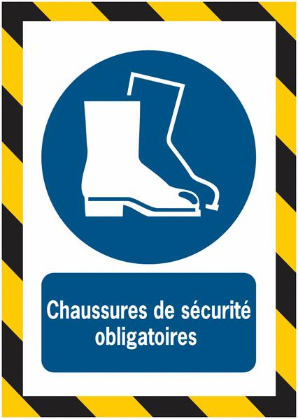 Porte-documents adhésifs à fermeture magnétique Chaussures de sécurité obligatoires - Seton