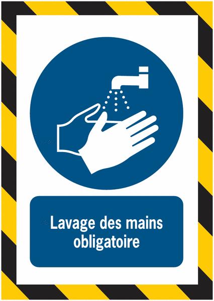 Porte-documents adhésifs à fermeture magnétique Lavage des mains obligatoire - Seton