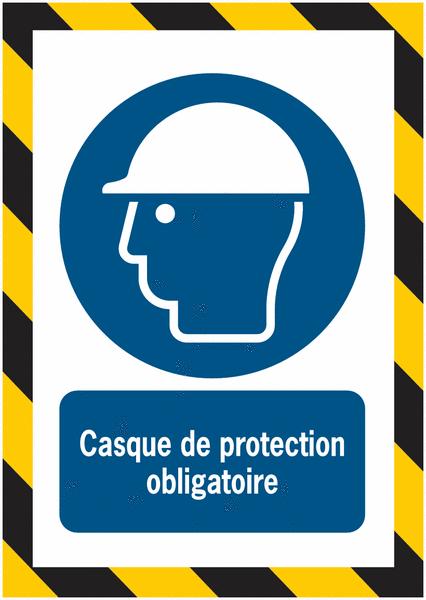 Porte-documents adhésifs à fermeture magnétique Casque de protection obligatoire - Seton