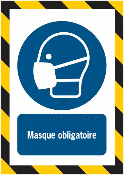 Porte-documents adhésifs à fermeture magnétique Masque obligatoire - Seton