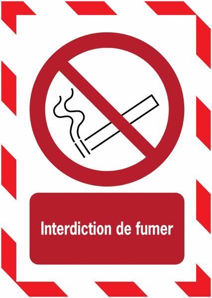 Porte-documents adhésifs à fermeture magnétique Interdiction de fumer - Seton