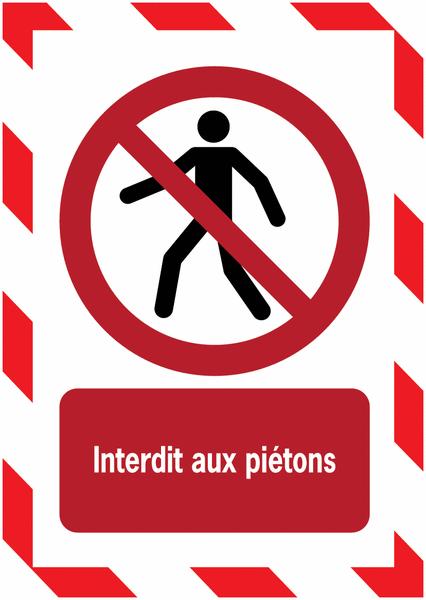 Porte-documents adhésifs à fermeture magnétique Interdit aux piétons - Seton