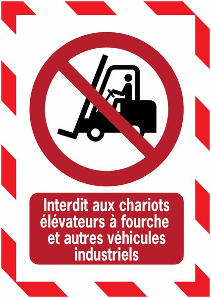 Porte-documents adhésifs à fermeture magnétique Interdit aux chariots élévateurs à fourche et autres véhicules industriels - Seton