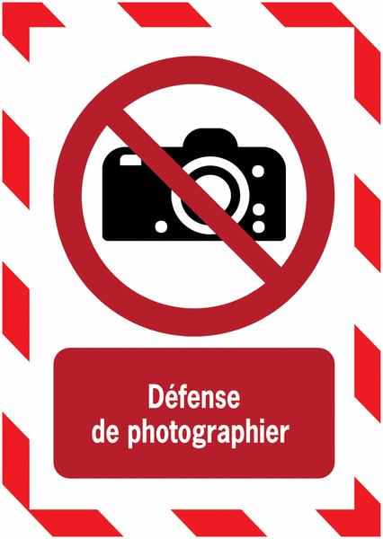 Porte-documents adhésifs à fermeture magnétique Interdiction de photographier - Seton