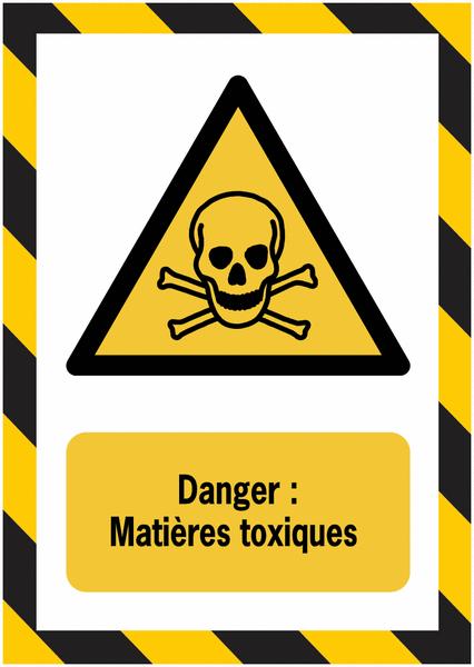 Porte-documents adhésifs à fermeture magnétique Danger Matières toxiques - Seton