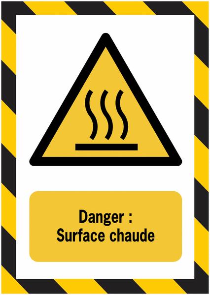 Porte-documents adhésifs à fermeture magnétique Danger Surface chaude - Seton