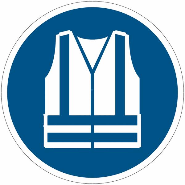 Pictogrammes NF EN ISO en aluminium Gilet de sécurité haute visibilité obligatoire - M015