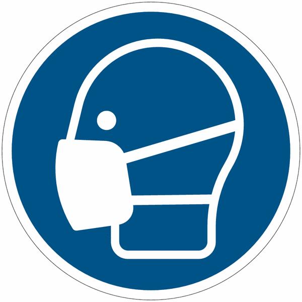 Pictogrammes NF EN ISO en aluminium Masque obligatoire - M016