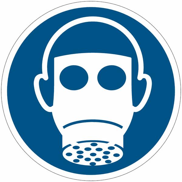 Pictogrammes NF EN ISO en aluminium Protection des voies respiratoires obligatoire - M017