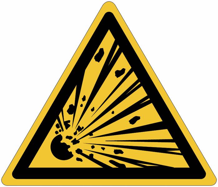 Pictogrammes NF EN ISO en aluminium Danger matières explosives - W002