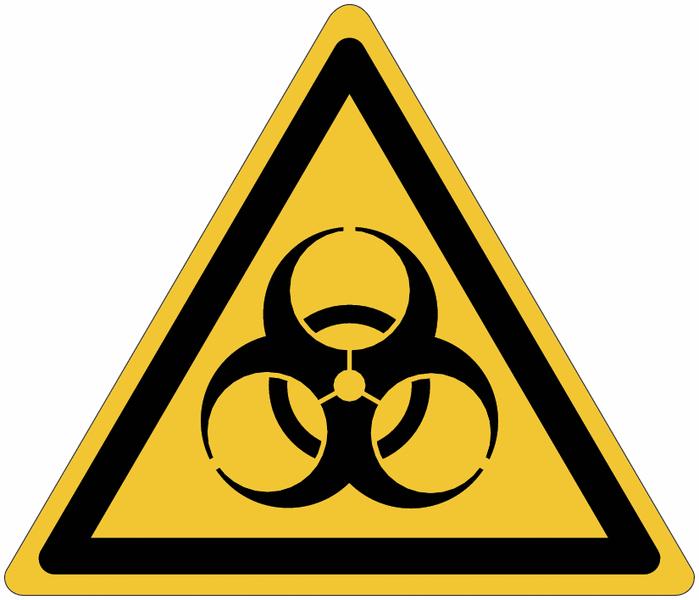 Pictogrammes NF EN ISO en aluminium Danger risque biologique - W009
