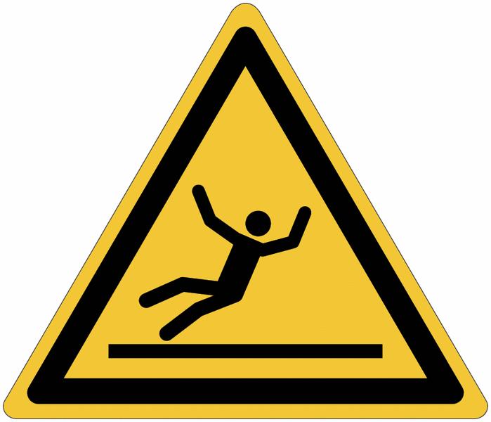 Pictogrammes NF EN ISO en aluminium Danger surface glissante - W011