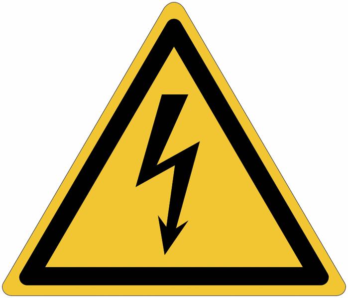 Pictogrammes NF EN ISO en aluminium Danger électricité - W012