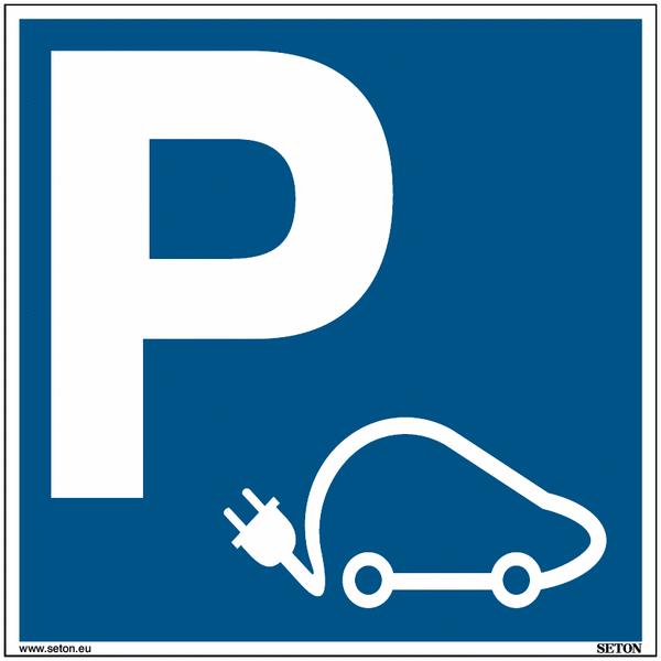 Panneaux de parking pour voiture électrique - Matériau PVC