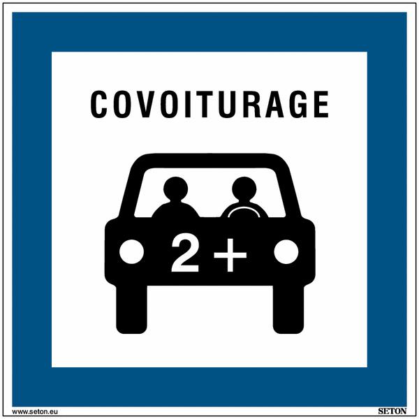 Panneaux de parking pour covoiturage - Matériau PVC