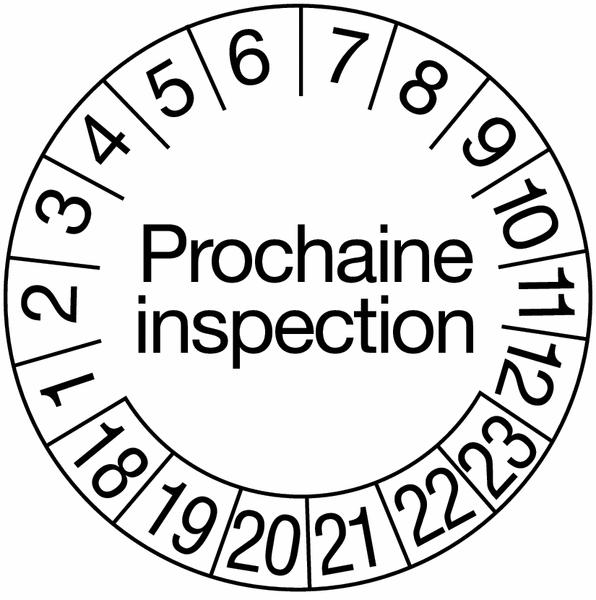 Pastilles calendrier rondes avec texte en vinyle permanent
