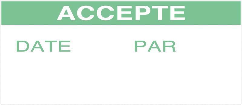 Etiquettes d'inspection en vinyle ultra-destructible personnalisées