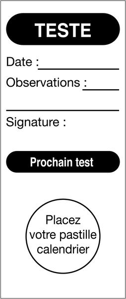 Etiquettes d'inspection pour pastilles calendrier à poinçonner