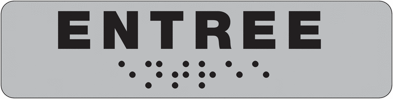 Plaque de porte Entrée en braille