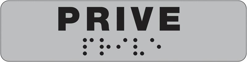 Plaque de porte Privé en braille