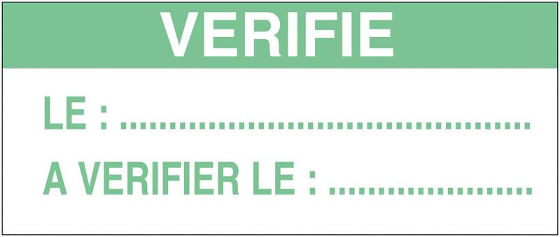 Etiquettes d'inspection à compléter en polyester auto-laminantes