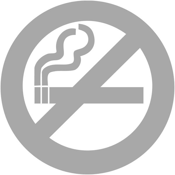 Bande de signalisation aspect givré pictogramme interdiction de fumer