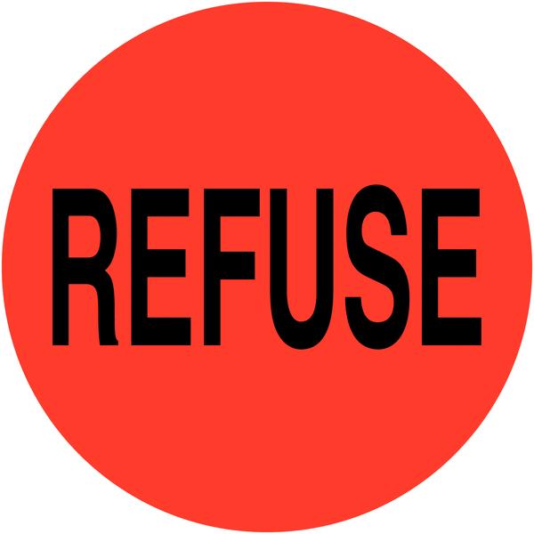 Etiquettes en vinyle Refuse