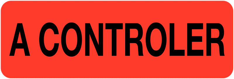 Etiquettes en papier A contrôler