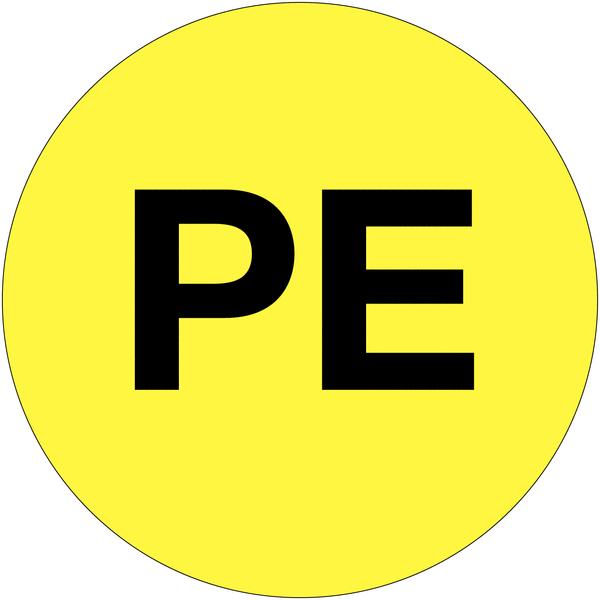 Etiquettes d'équipotentialité PE
