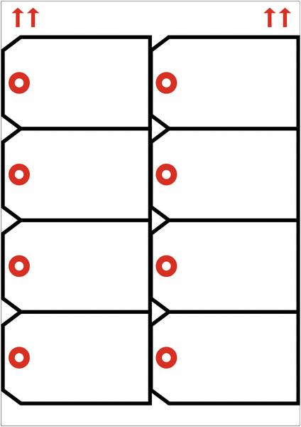 Etiquettes cartonnées pour imprimante Laser - Seton