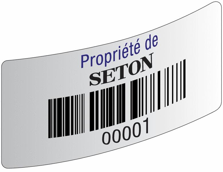 Etiquettes code à barres en papier laminé - Etiquettes avec code-barres et/ou numérotation personnalisées