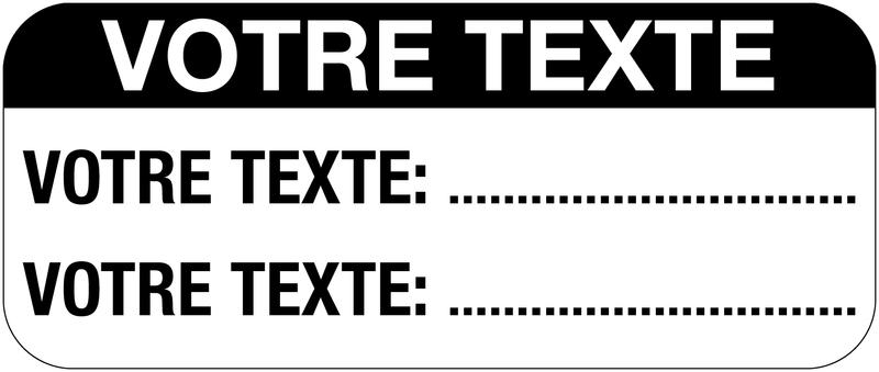 Etiquettes d'inspection personnalisées en vinyle - Seton