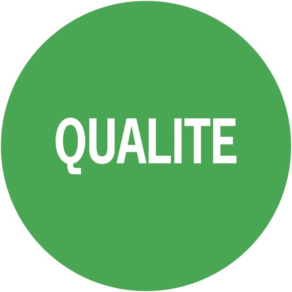 Pastilles adhésives d'inspection à texte Qualité